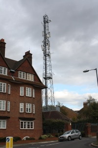 Former fire station and telecommunications mast in Eaglesfield Road/Shrewsbury Lane